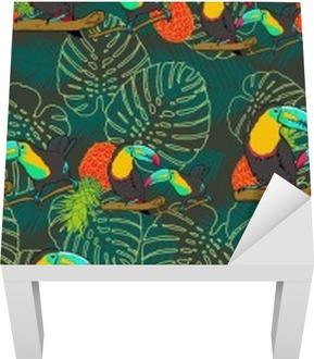 Tropical toucan bezešvé vektoru vzor