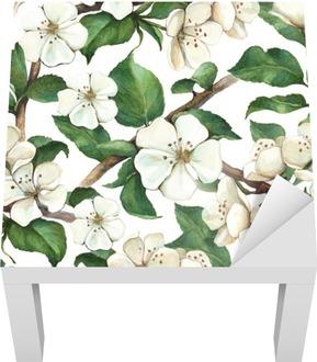Vzor s akvarel apple květiny