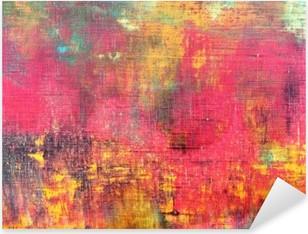 Nálepka Pixerstick Abstraktní barevné ručně malované plátno textury na pozadí