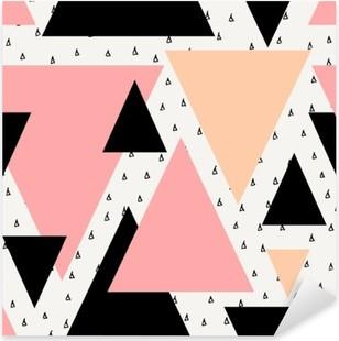 Nálepka Pixerstick Abstraktní geometrické bezešvé vzor.
