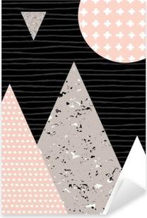 Nálepka Pixerstick Abstraktní geometrické krajiny