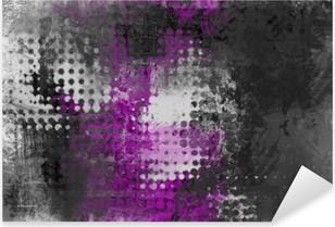 Nálepka Pixerstick Abstraktní grunge pozadí s šedá, bílá a fialová