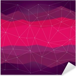 Nálepka Pixerstick Abstraktní pozadí, geometrie, linie a body