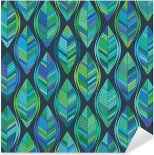 Nálepka Pixerstick Abstraktní pozadí zelených listů. vektoru vzor