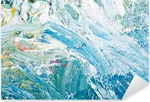 Nálepka Pixerstick Abstraktní umělecká díla pozadí malba