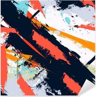 Nálepka Pixerstick Abstraktní umění grunge nouzi bezproblémové vzor