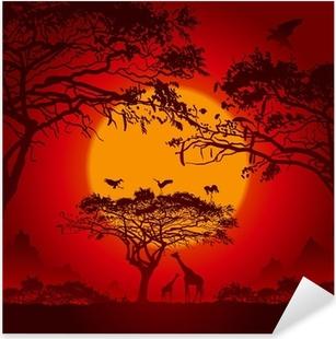Nálepka Pixerstick African sunset