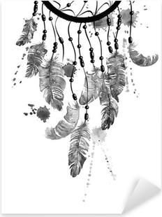 Nálepka Pixerstick Akvarel ilustrace s Dreamcatcher