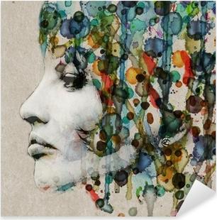 Nálepka Pixerstick Akvarel samice profil
