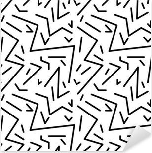 Nálepka Pixerstick Bezešvé geometrický vzor vinobraní v retro stylu 80. let, Memphis. Ideální pro konstrukci materiálu, papíru a tisku webových stránek pozadí. EPS10 vektorový soubor