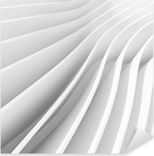 Nálepka Pixerstick Bílá architektura kruhové pozadí. abstraktní interiérový design. 3d moderní architektura render. futuristická konstrukce budov