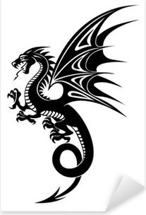 Nálepka Pixerstick Black Dragon