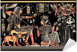 Nálepka Pixerstick Black egyptský papyrus