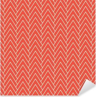 Nálepka Pixerstick Červená krokev vzor