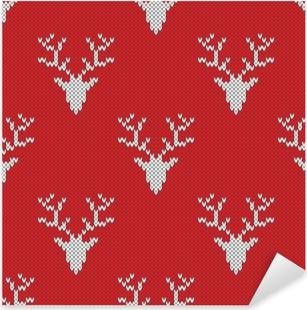 Obraz na plátně Červený pletený svetr s jeleny bezproblémové vzor • Pixers®  • Žijeme pro změnu 13aef4d757
