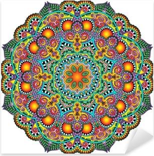 Nálepka Pixerstick Circle krajka ornament, kolo okrasných geometrický ubrousek vzor