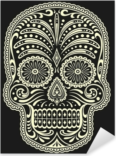 Nálepka Pixerstick Cukr Skull