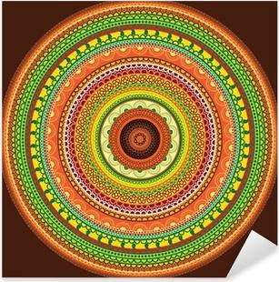 Nálepka Pixerstick Detailní Henna mandala designu