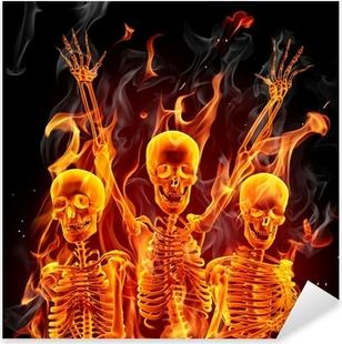 Nálepka Pixerstick Fire kostry