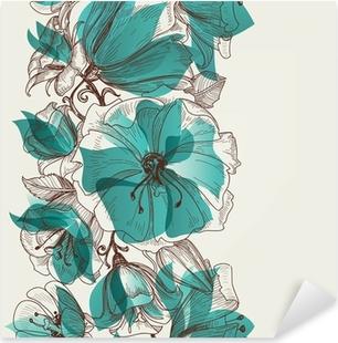 Nálepka Pixerstick Flower seamless pattern vector