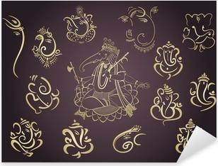 Nálepka Pixerstick Ganesha, Aum, hinduistické svatební oznámení, Diwali, Indie