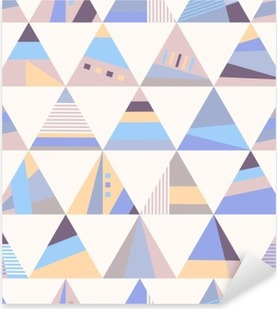 Nálepka Pixerstick Geometrické retro seamless pattern