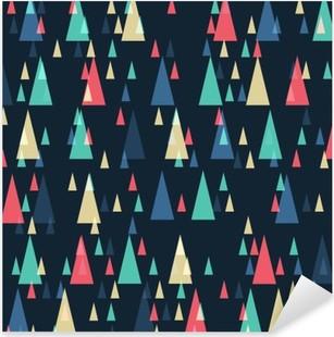 Nálepka Pixerstick Geometrické retro trojúhelníky bezešvé vzor