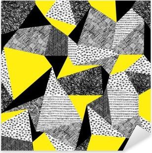Nálepka Pixerstick Geometrický vzor bezešvé v retro stylu. Vintage background.Tr