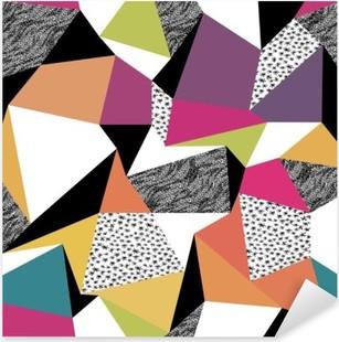 Nálepka Pixerstick Geometrický vzor bezešvé v retro stylu. Vintage pozadí. C