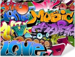 Nálepka Pixerstick Graffiti bezešvé pozadí. Hip-hop art