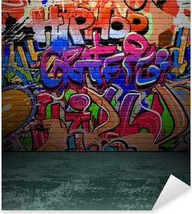 Nálepka Pixerstick Graffiti stěna městské street art painting