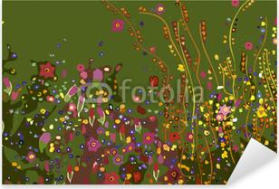 Nálepka Pixerstick Gustav Klimt, květiny