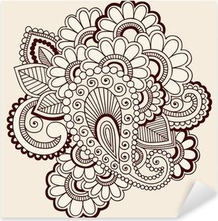 Nálepka Pixerstick Henna Doodles abstraktní Paisley květiny vektor Design