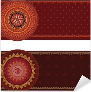 Nálepka Pixerstick Henna Mandala Bannery