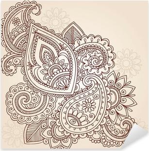 Nálepka Pixerstick Henna Tattoo Mehndi Abstraktní Doodle Vector design