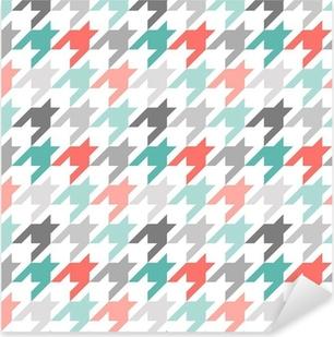 Nálepka Pixerstick Houndstooth bezešvé vzor, barevné