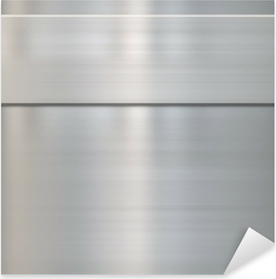 Nálepka Pixerstick Jemné broušená ocel metal
