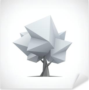 Nálepka Pixerstick Koncepční polygonální strom. abstraktní vektorové ilustrace.