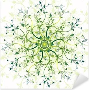 Nálepka Pixerstick Květinová jarní kolo rám
