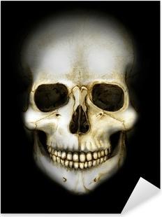 Nálepka Pixerstick Lebka ve tmě barevný