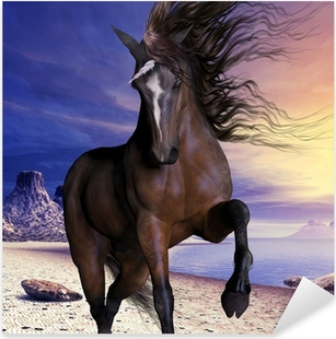 Nálepka Pixerstick Mahogony Bay Unicorn