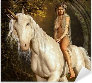 Nálepka Pixerstick Maiden a Unicorn