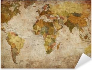 Nálepka Pixerstick Map world