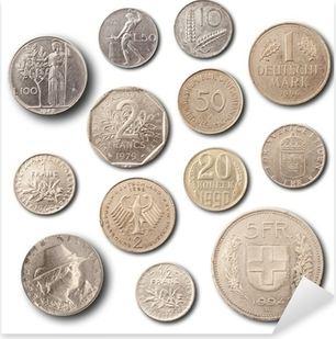4c6752912 Nálepka Pixerstick Staré mince datováno 1900, jeden Pfennig • Pixers® •  Žijeme pro změnu