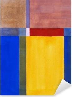 Nálepka Pixerstick Minimalistická abstraktní malbu