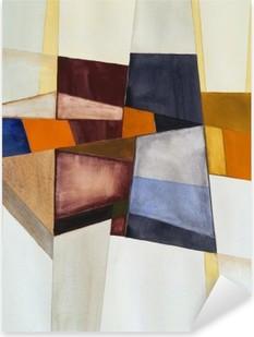 Nálepka Pixerstick Modernista abstraktní akvarel