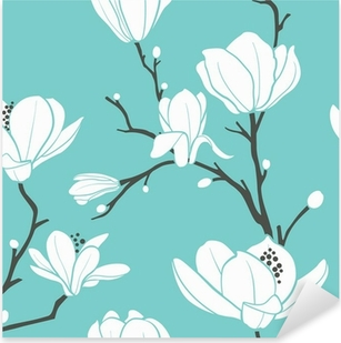 Nálepka Pixerstick Modrá magnolia vzor