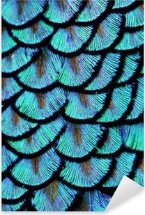 Nálepka Pixerstick Modrá peří