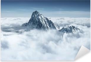 Nálepka Pixerstick Mountain v oblacích