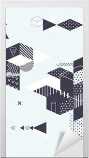 Nálepka na dveře Abstraktní moderní geometrické pozadí